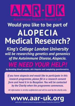 AUTOIMMUNE ALOPECIA RESEARCH DATABASE-WE NEED YOUR HELP!!