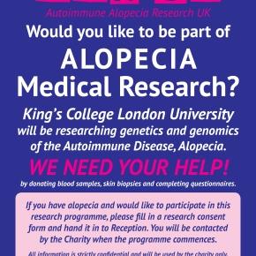 AUTOIMMUNE ALOPECIA RESEARCH DATABASE-WE NEED YOURHELP!!